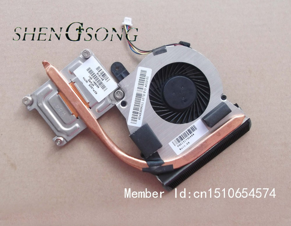 Free Shipping Original Laptop CPU Heatsink Fan for HP ProBook 4340S Integrated Notebook 683861-001 60.4RS09.011 CPU Radiator 683855 001 for hp probook 683855 001 4340s laptop motherboard quality goods 100% tested