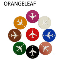 Aluminium Alloy Circle Luggage Tags Airplane Shape Checked Boarding Elevators Travel Accessories