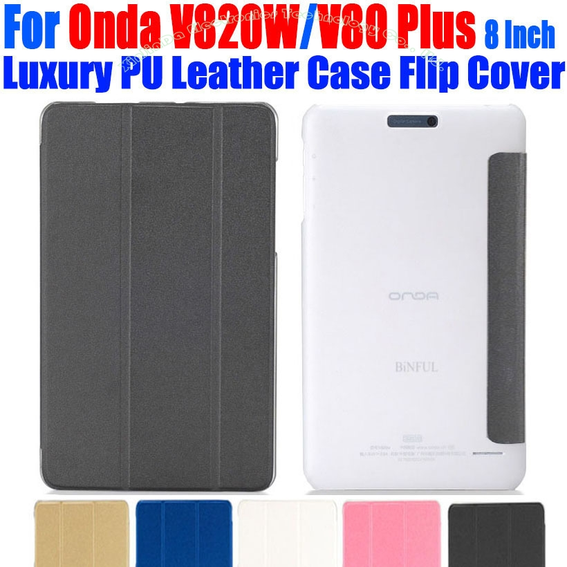 Original Luxury PU Leather Case Flip Cover For Onda V820W  8 Inch Crystal tablet pc Case For ONDA V820W OD02 universal 61 key bluetooth keyboard w pu leather case for 7 8 tablet pc black