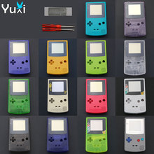 цена на YuXi Limited Edition Shell Plastic Case Cover Replacement For Gameboy Color GBC game console full housing with screwdrivers