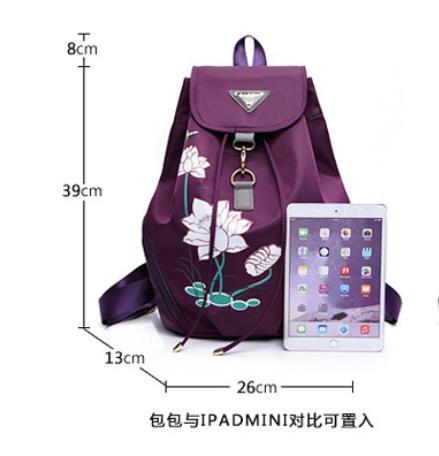 High quality waterproof anti-fouling nylon Backpack women canvas Large capacity travel bagpack women mochila kanken backpack 3