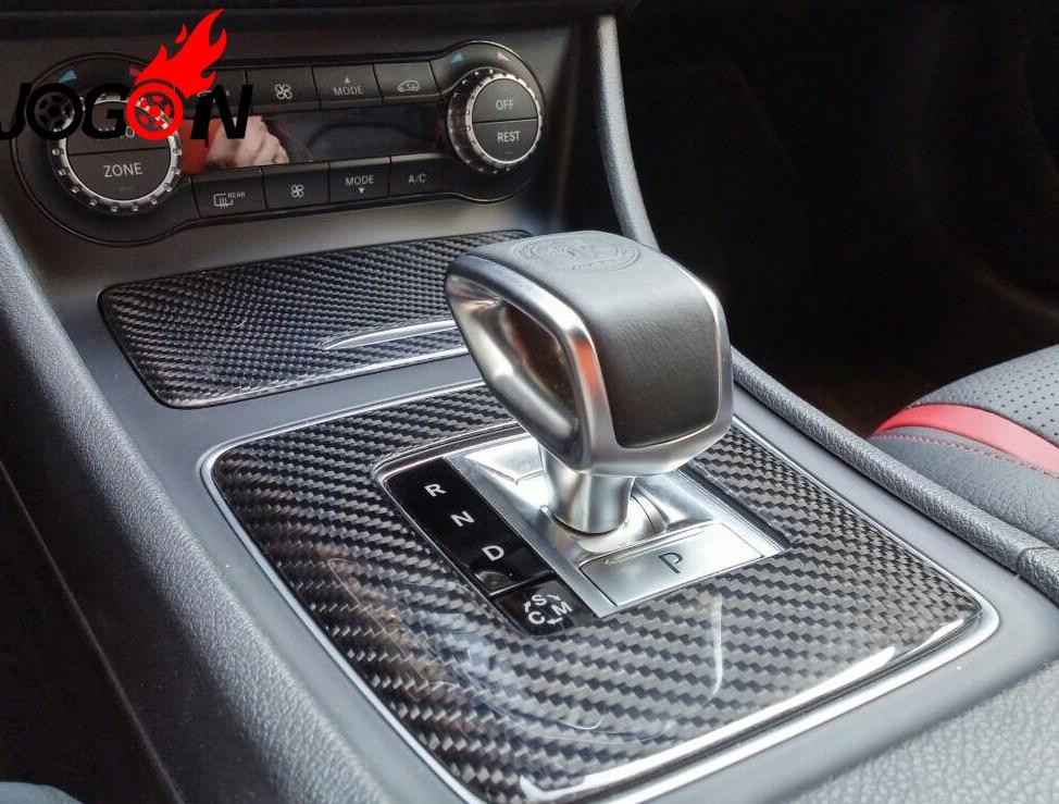 Real carbon fiber Center Console Storage Box Cigarette Ashtray Holder Panel Cover For Benz W176 W117