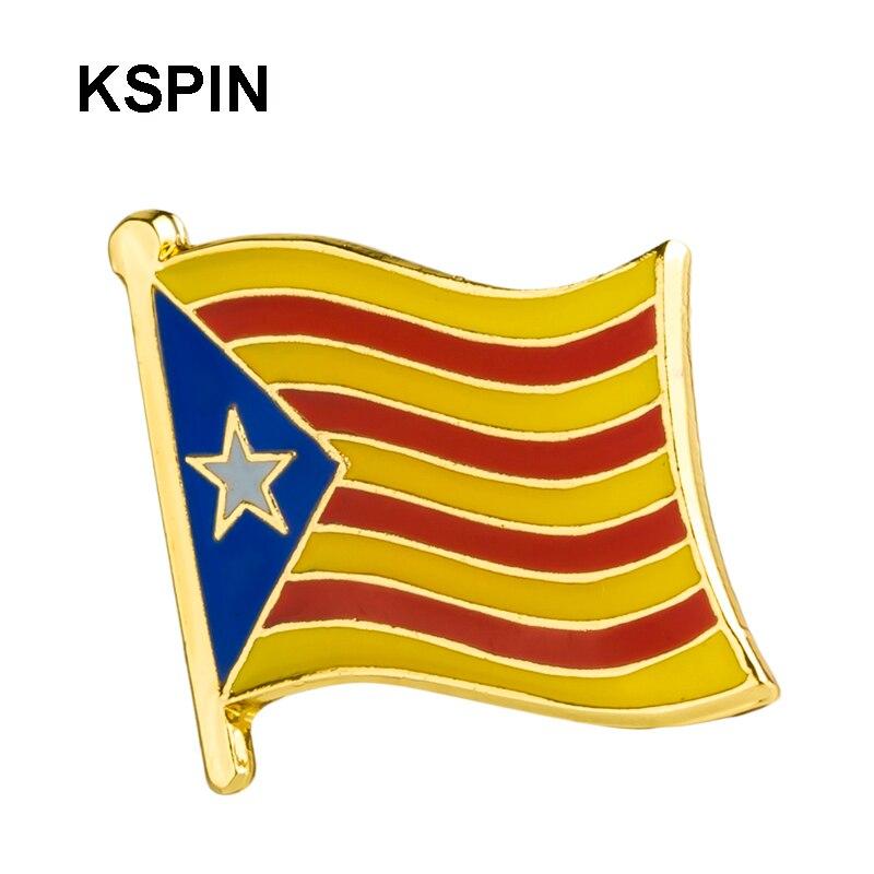 Catalan flag lapel pin badge pin 100pcs a lot Brooch Icons