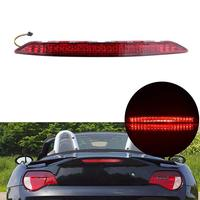 5050 LED Red Light Red Lens Trunk 3rd Third Brake Stop Light Rear Lamp Assembly For BMW E85 Z4 2003 2008