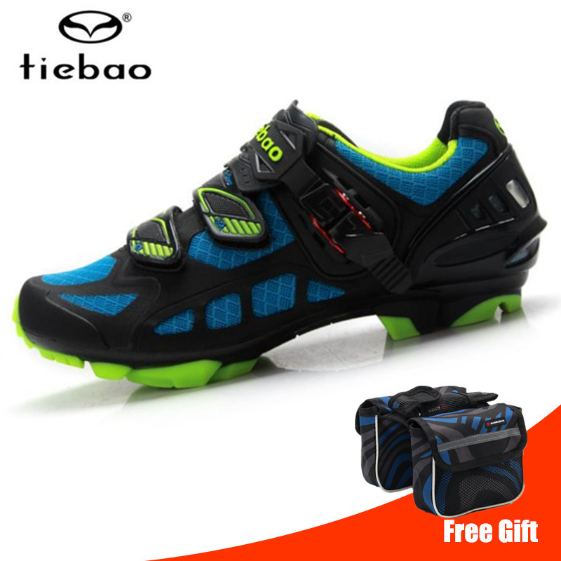 Tiebao Cycling Shoes men Breathable Professional Self Locking sapatilha ciclismo mtb Bicycle Shoes Non Slip Bike