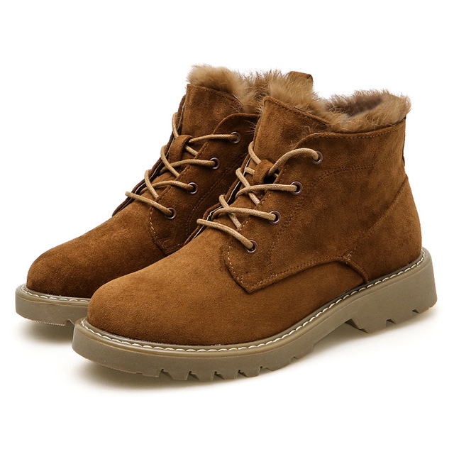 Hung Yau Women Boots Solid Casual Ankle Boots Martin Round