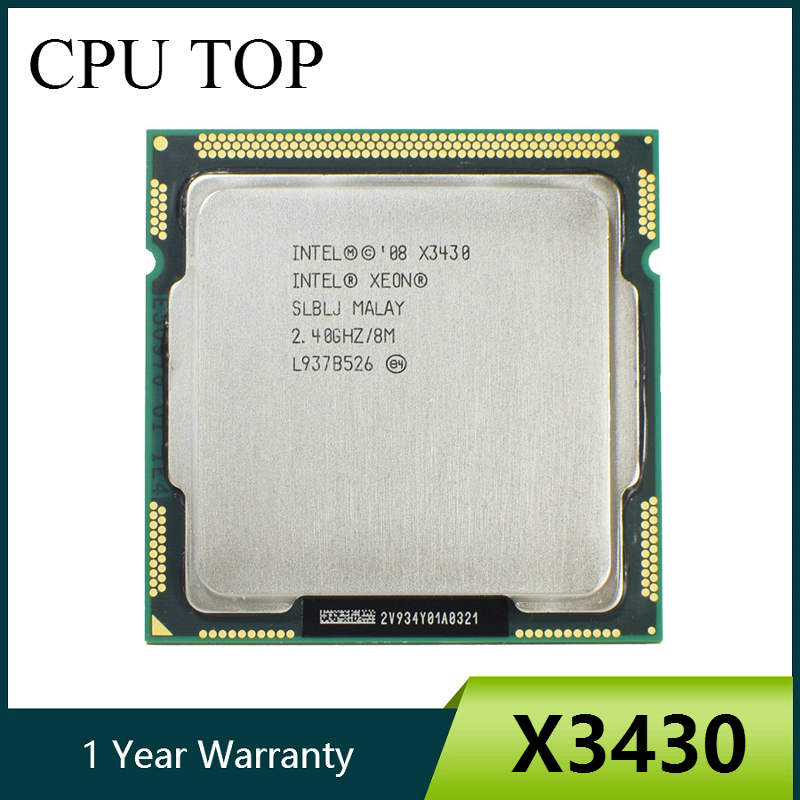 Intel Xeon X3430 Quad Core 2.4GHz LGA 1156 8M Cache 95W Desktop CPU