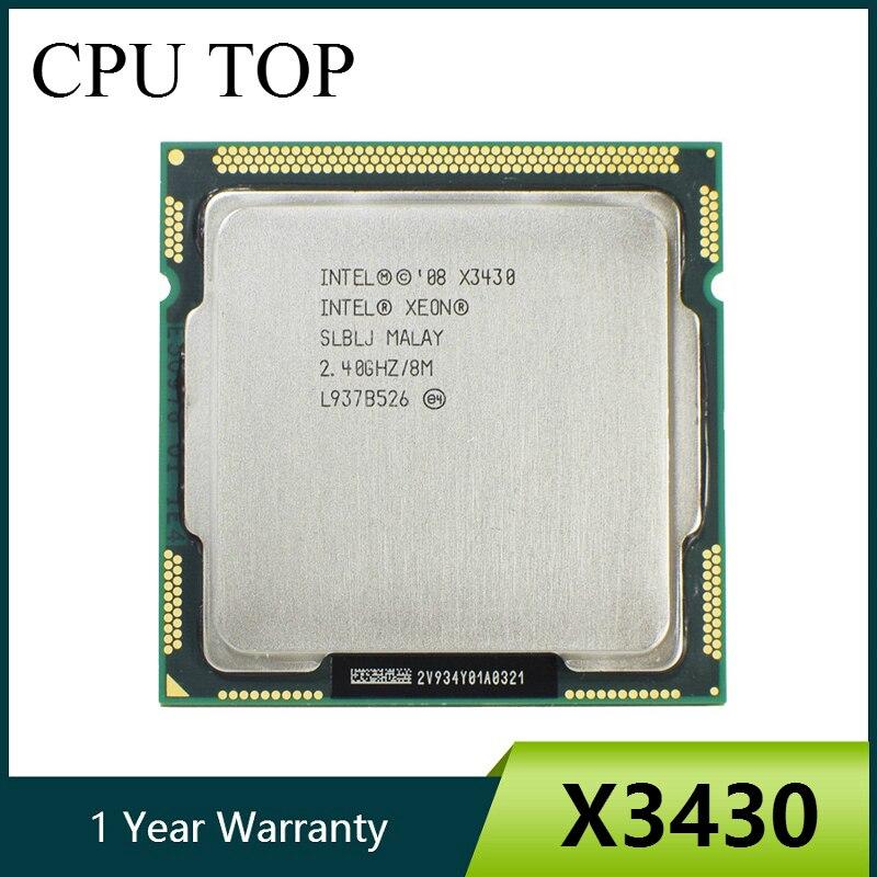 Четырехъядерный процессор Intel Xeon X3430 2,4 ГГц LGA 1156 8 Мб кэш-памяти 95 Вт