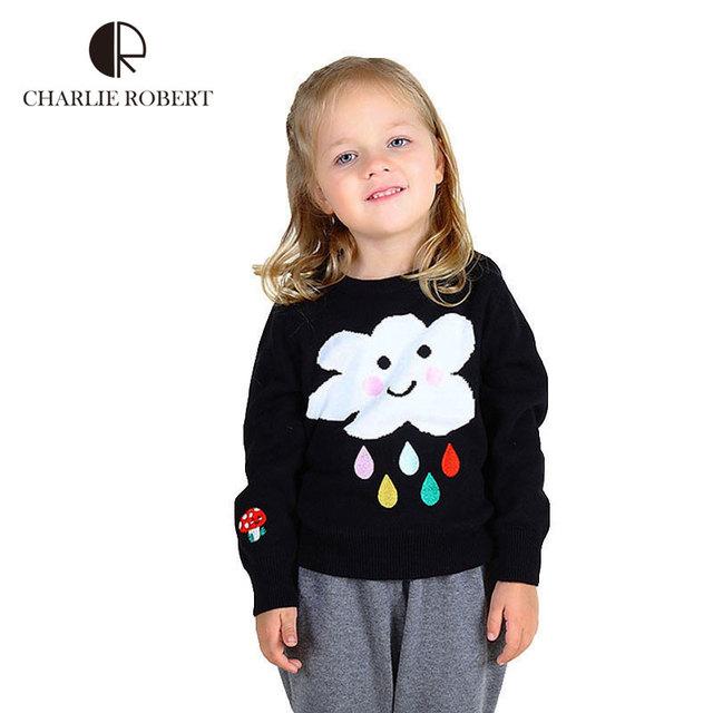 Bebê Das Meninas Dos Meninos Inverno Sweater Moda Nuvem Padrão Camisola Para Crianças crianças Primavera Outono Roupas Caricatura Malhas