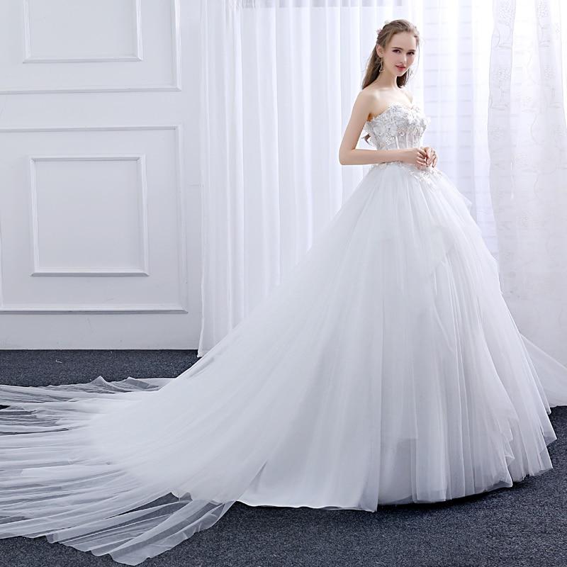 Ladybeauty Nuevo 2018 vestido de novia por encargo delgado con - Vestidos de novia - foto 4