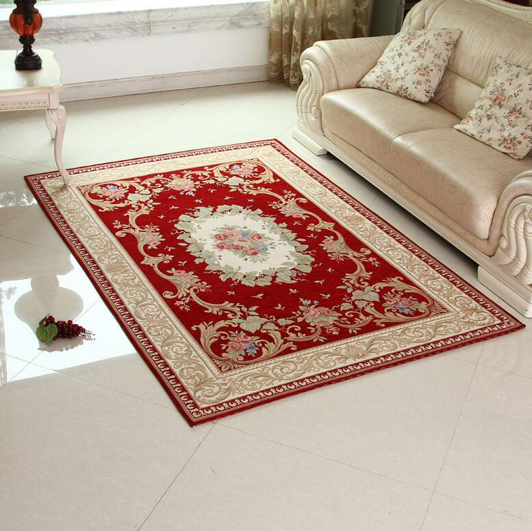 Sunnyrain Luxury Red Carpets And Rugs For Living Room Carpet Decorative Area Rug For Bedroom