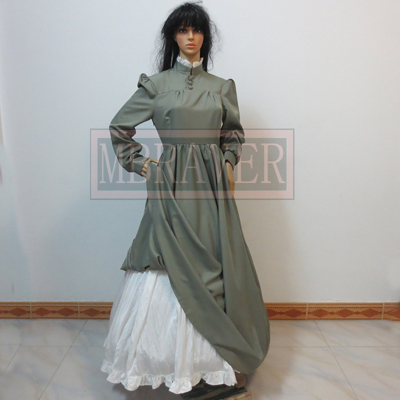 Free Shipping Howl's Moving Castle Sophie Hatter Cosplay Costume Any Size