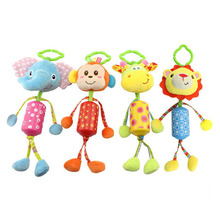 Cute Baby Rattle Toy for Stroller Crib Mobile Elephant Toys 0-12 Months Cartoon Animal Lion Medium Bell Children