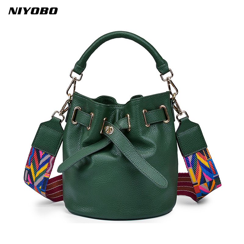 NIYOBO 100% Genuine Leather Women Handbags Ladies Shoulder Bag Messenger Bag Designer Female Crossbody Bag Tote Bolsa femenino niyobo genuine leather women shoulder bag 100