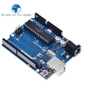 Image 1 - TZT 1 zestaw uno r3 MEGA328P ATMEGA16U2 (z logo) dla Arduino kompatybilny