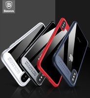 BASEUS Brand Suthin Series Case For IPhone 8 Strong Protection Cover TPU Clear Acrylic PC Back