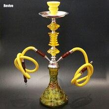 Revive glass base hookah yellow shisha chicha complete set 51cm narguile nargile