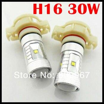 10pcs H16/PSX26W/PSX24W LED CREE chip led  30W Bright Power Fog Light Bulb Lamp White h16 led  Low Beam Headlight 600 Lumen