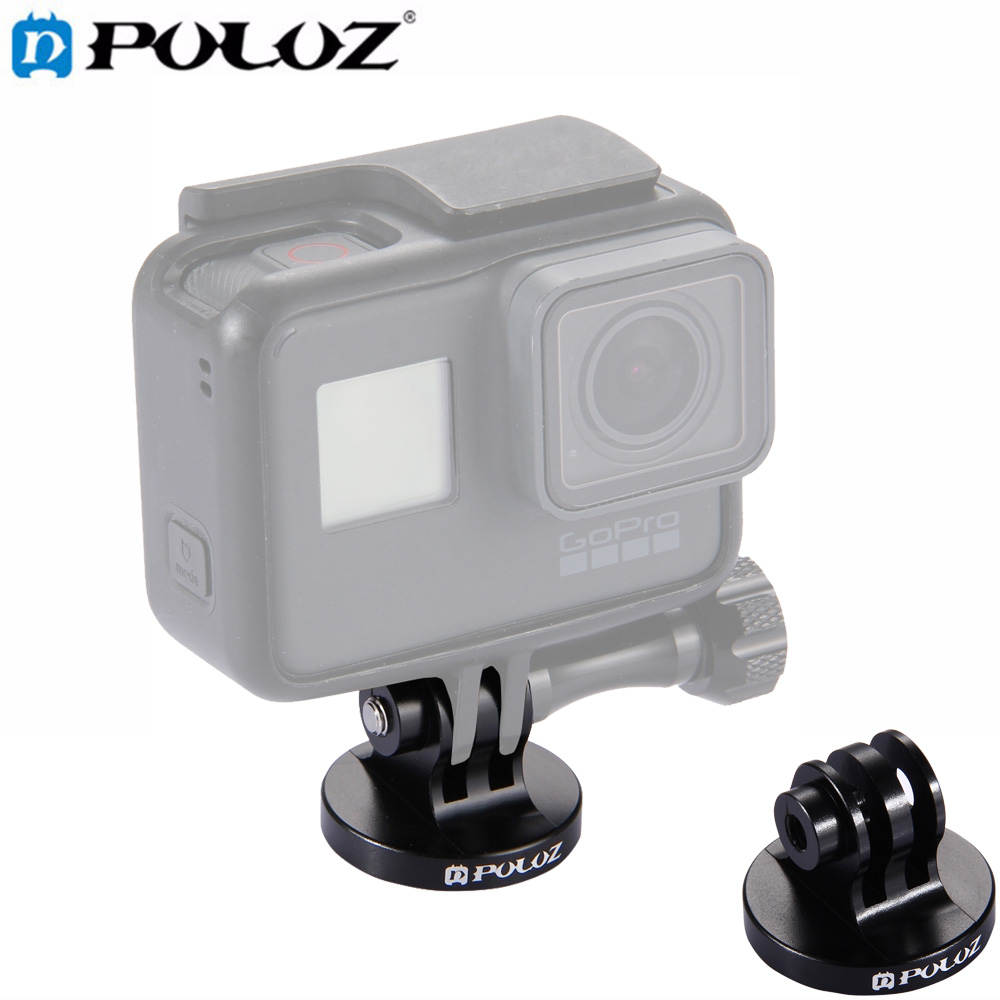 PULUZ For Go Pro Accessories Tripod Mount Adapter for GoPro HERO5 4 Session /GoPro Hero 5 Black edition /GoPro Hero 5 4 3+ 3 2 1