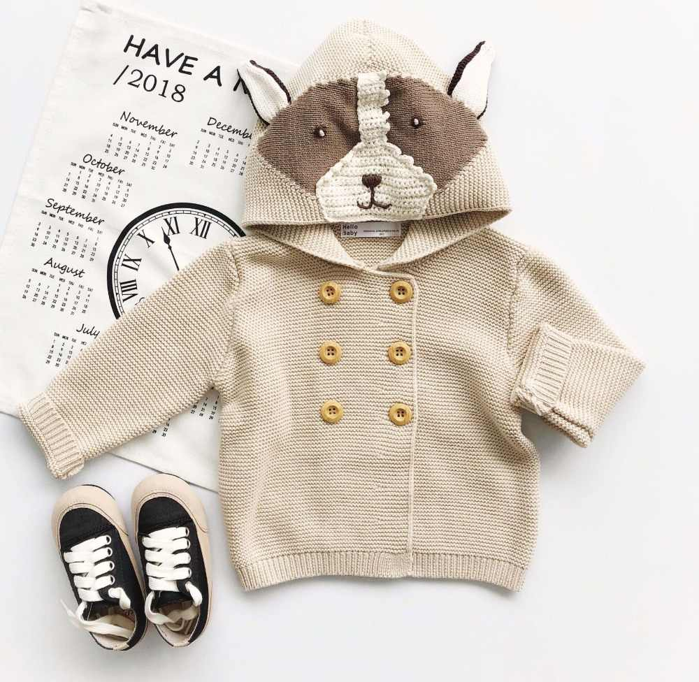 4edb7d1bee19 Baby Girls Outerwear   Coats New 2019 Cute Cartoon Fox Cotton Knit Cardigan  Kids Clothes Baby Boys Knitted Coat Boy Girl Clothes