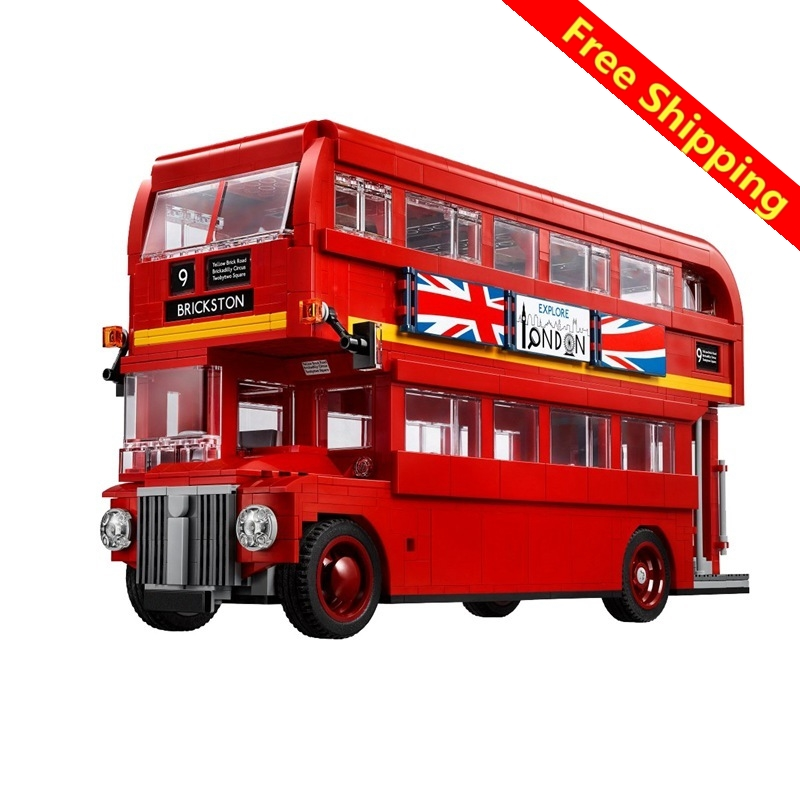 Lepin 21045 The London Bus 1716 Pcs Mini Bricks Technic Series Learning Building Blocks Toys For Children Creator Expert Lepin welly london bus 99930