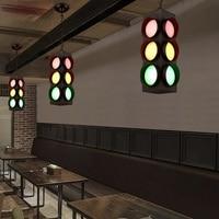 Creative Traffic Lights Style Suspension Luminaire Loft Vintage Pendant Light Bar Personality Industrial Style Pendant Lighting