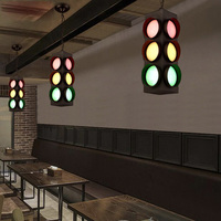 Creative Traffic Lights Style Suspension Luminaire Loft Vintage Pendant Light Bar Personality Industrial Style Pendant Lighting