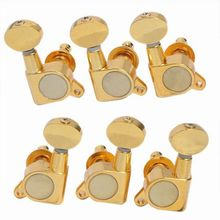 6pkg of 3R3L Tuning Pegs Deluxe Machine Head Tuners Gold for Repla