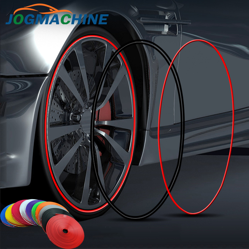 8M/ Roll Rimblades Car Vehicle Color Wheel Rims Protectors Decor Strip Tire Guard Line Rubber Moulding Trim(China)