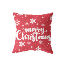 Soft Short Plush Pillow Case Backing Hold Case/Seat Cushion Square Throw Cover 18x18 Inch Christmas Graphic