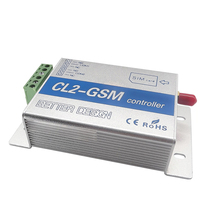 цена на Cl2-Gsm Wireless Remote Control Relay Switch Sms Smart Home Security System Switch Silver+Blue Aluminum Alloy Eu Plug