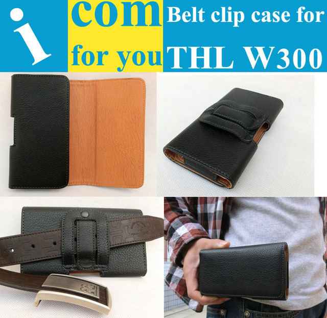 "Holster Belt Clip Leather case for THL W300(MTK6589T 6.5"") for Mountain climbing Bicycle riding Camping Outdoor activities"