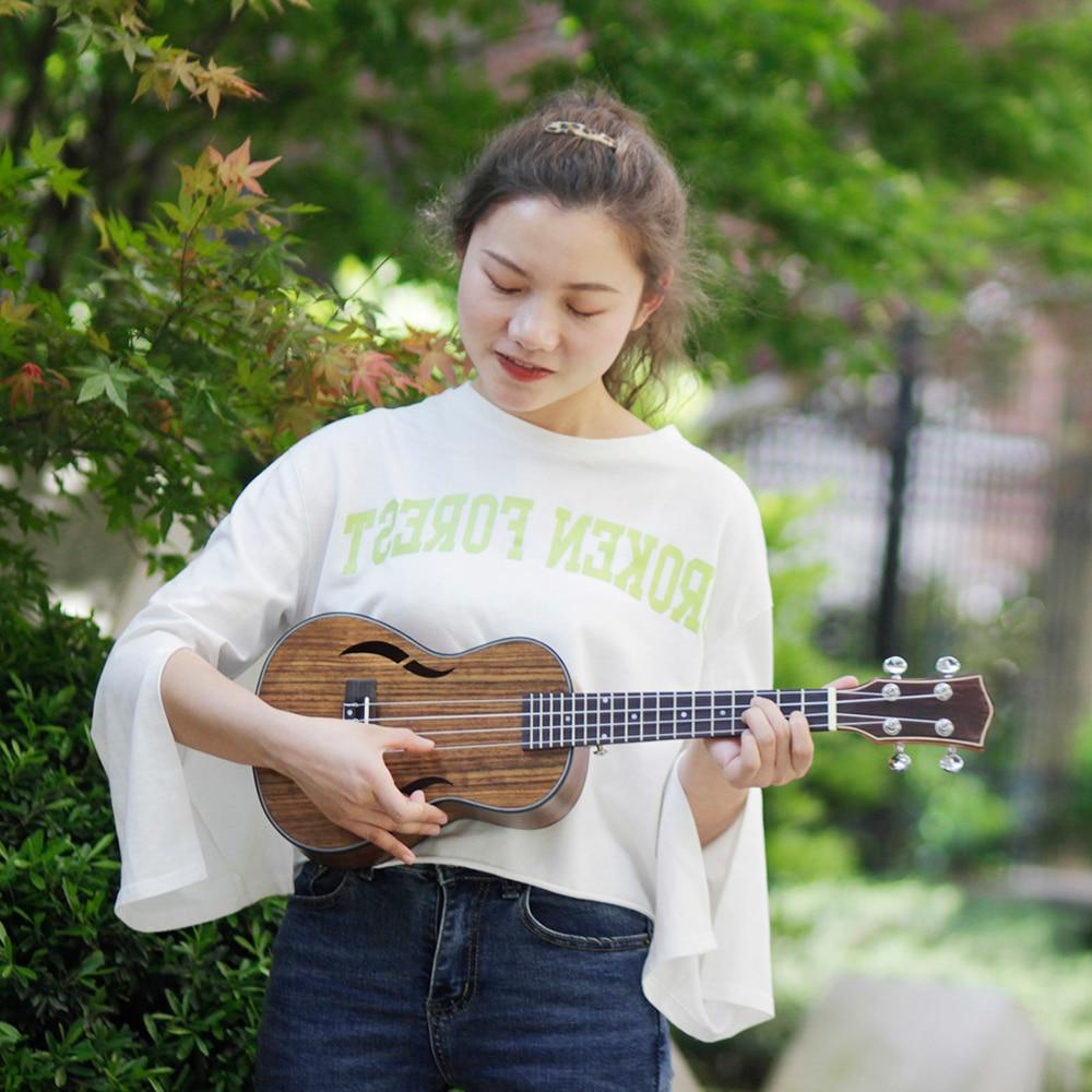 21 Inch Acoustic Tenor Ukulele Ukelele Uke Walnut Wood Nylon Strings Close Type Tuning Pegs Sting