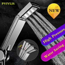 NEW PVIVLIS Shower Head Rainfall Bathroom Hand Shower Square High Pressure Handheld Shower Water Saving Chuveiro Regadera Ducha 8 inch head square ultra thin high pressure rain bath shower showerheads chuveiro do banheiro ducha pommeau de douche douchekop
