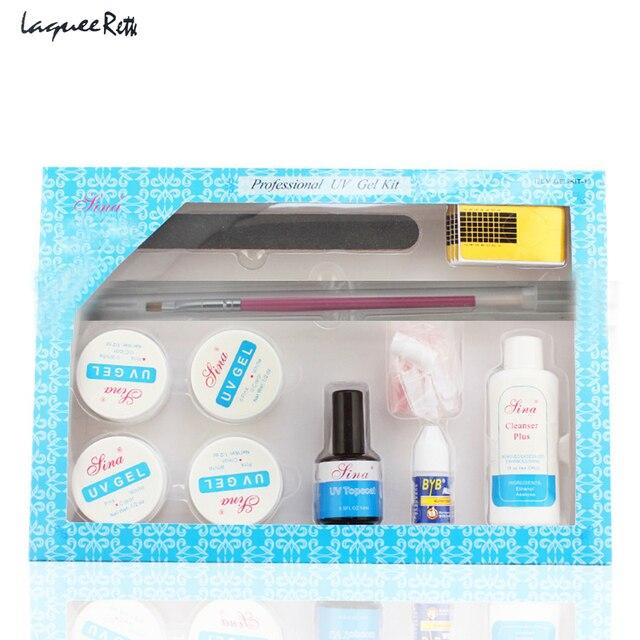 11pcs Set Nail Kit Professional Uv Gel Glue Brush Manicure Tool For