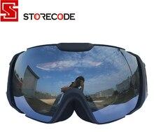 StoreCode Brand Ski Goggles Double UV400 Anti-Fog Ski Mask Glasses Women Men Skiing Snowboard Black Frame Snow Goggles 656