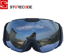 StoreCode Brand Ski Goggles Double UV400 Anti-Fog Ski Mask Glasses Women Men Skiing Snowboard Black Frame Snow Goggles 656