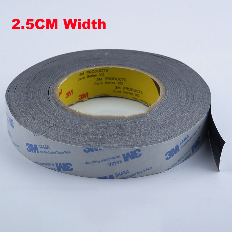 1 Meter 25mm Width 3M9448A Double Coated Tissue Tape Thermally Conductive Adhesive thermal pad for heat sink heatsink radiator 48pcs x 25 25mm square thermal adhesive tape for heatsink heat sink high thermal conductive