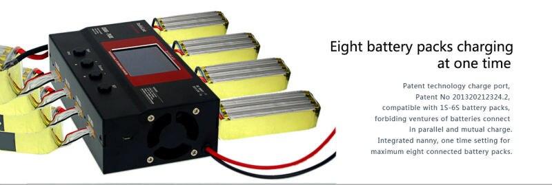 Портативное зарядное устройство CB86 Plus для 8 шт. 2 6S Lipo батарея одновременно профессиональная для RC вертолета 2 6S Lipo батарея - 3