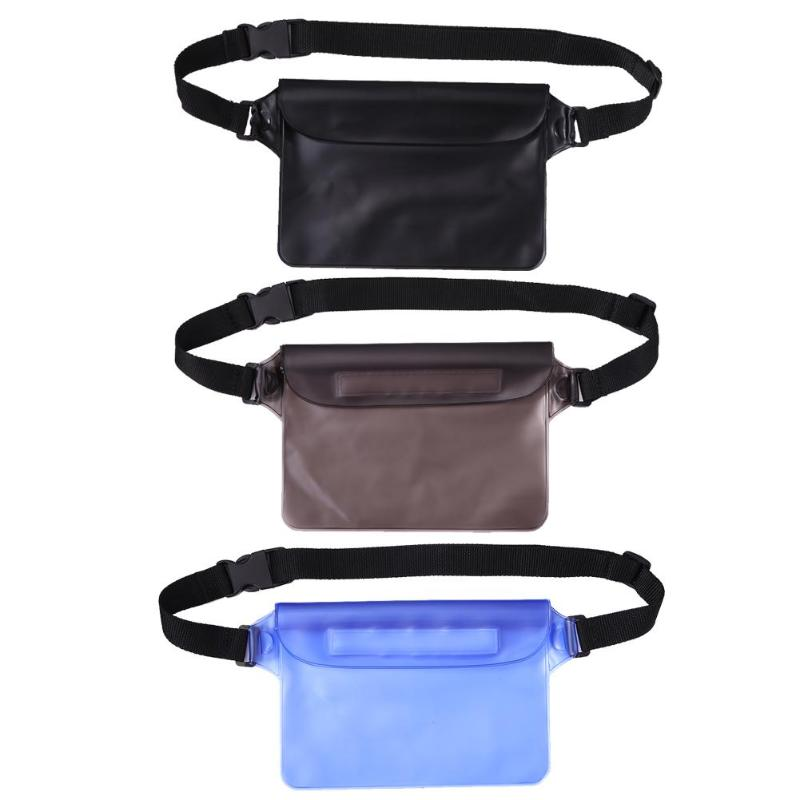 1pc Outdoor Beach Waterproof Waist Bag Swimming Drifting Sealed Phone Pouch