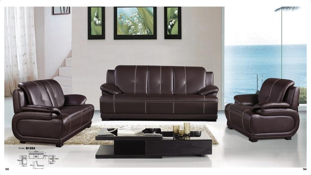 Iexcellent diseño moderno de cuero genuino sofá seccional ...