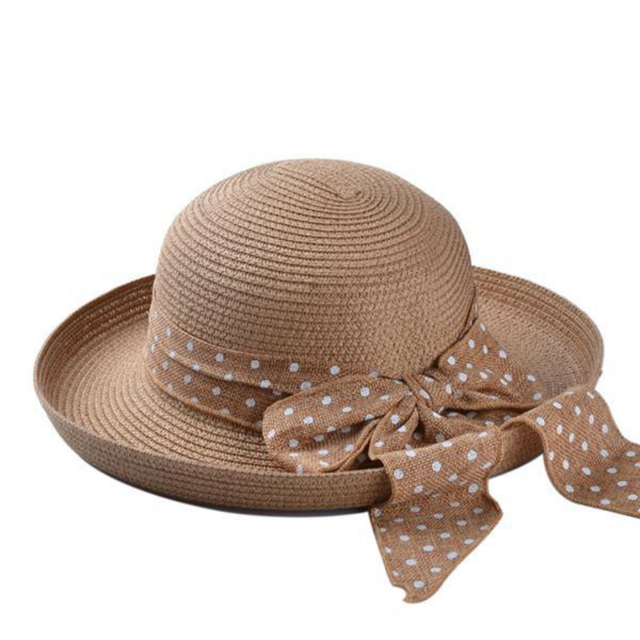 20bd6455c0feb8 Womens Straw Hat Bow Beach Sun Cap Women Panama Wide Brim Field Summer  Walking Tour Angling