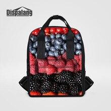 Dispalang женщины рюкзак фрукты, конфеты рюкзак для ноутбука женщина Школьные ранцы колледж модная одежда для девочек леди дорожная сумка