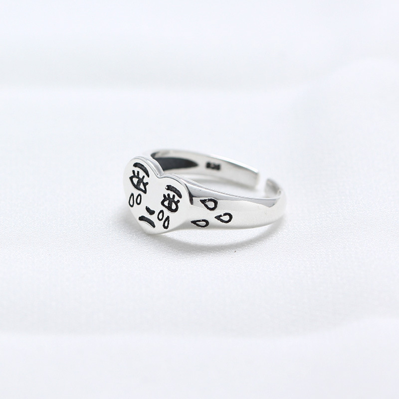 2019 New Product Pure Silver Personal Tears 925 Sterling Silver Rings For Women Simple Heart Womens 2019 New Product Pure Silver Personal Tears 925 Sterling Silver Rings For Women Simple Heart Womens Rings Jewelry