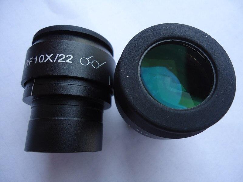 WF10X/22mm Microscope haut oculaire oculaire lentille optique réglable avec champ de vision vert Film de montage taille 30mm