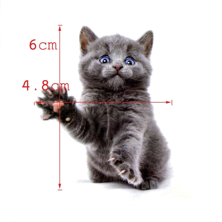 De schattige kat van blauwe ogen Waterproof tijdelijke tattoo Sticker - Tatoeage en lichaamskunst - Foto 2