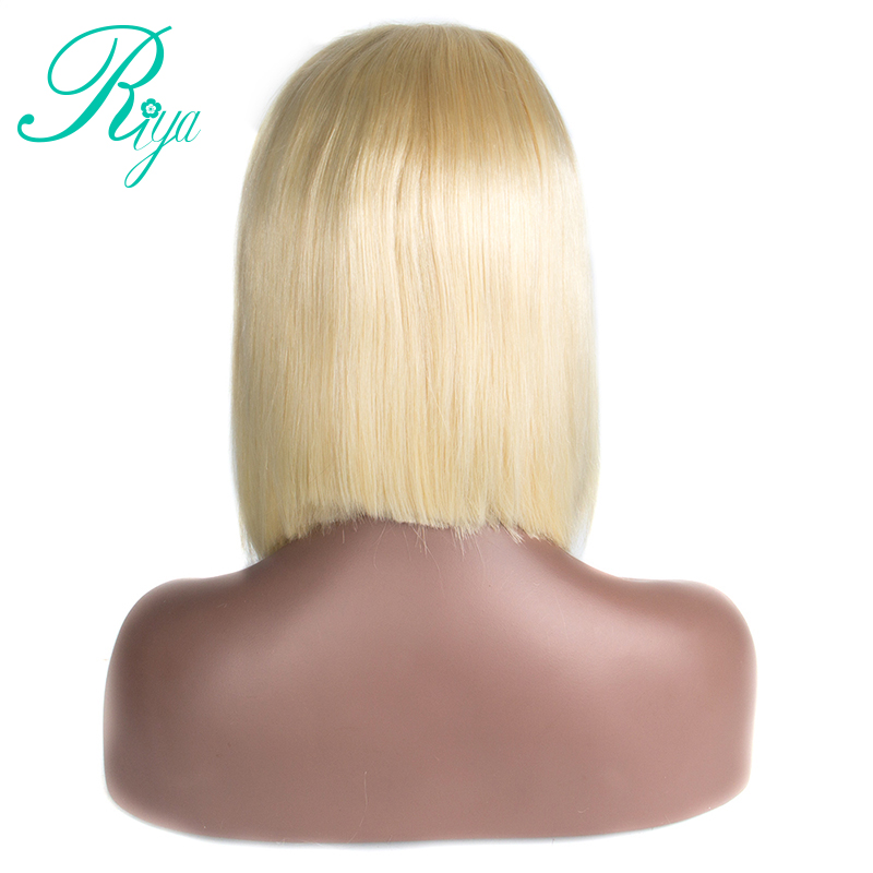 180 Density 613 Blonde Ombre Bob Wigs Brazilian Silky Straight Human Hair Lace Front Wig For