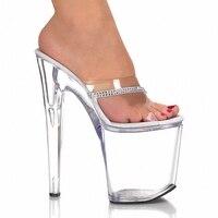 8 Inch High Heels Slippers Sexy Platform 2017 Models Super Heels Women S Shoes 20 Cm