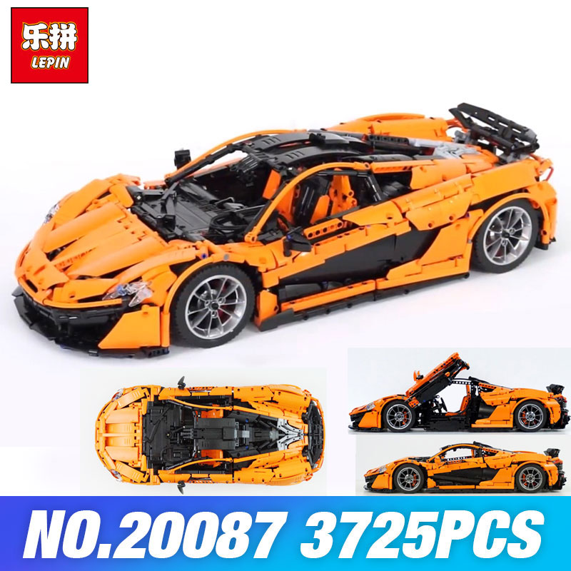 InStock Lepin 20087 Technic Toys The MOC-16915 Orange Super Racing Car Set Building Blocks Bricks Kids Toys Model Christmas Gift