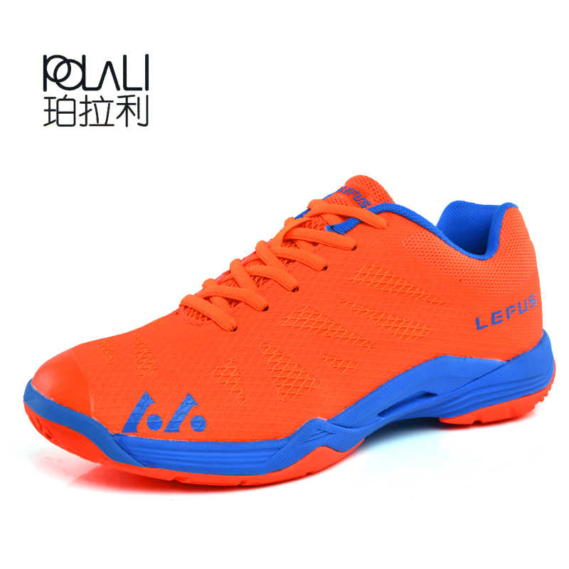 Lightweight Breathable Badminton Shoes for Men Lace-up Sport Shoes Men's Training Athletic Shoe Anti-Slippery Tennis Sneakers